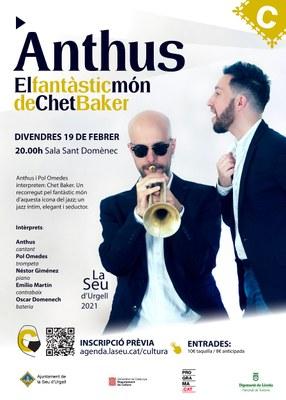 'El fantàstic món de Chet Baker', concert de jazz amb Anthus