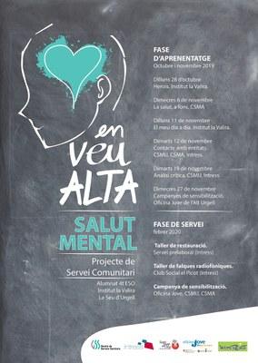 'En veu alta. Parlem de salut mental', nou projecte de servei comunitari a la Seu d'Urgell