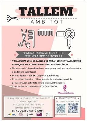 'Tallem amb tot', activitat solidària d'alumnes de La Salle per aconseguir cabell per a fer perruques per a malaltes de càncer