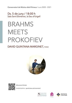 """""""Brahms meet Prokofiev"""", recital de piano a càrrec de David Quintana Marginet"""