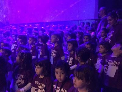 40 nens i nenes de l'Escola Municipal Música de la Seu d'Urgell participen en l'11è Cantaxics a Manresa