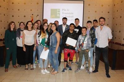 7 joves de la Seu d'Urgell finalitzen el curs del Pla de Transició al Treball