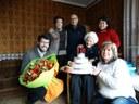 Albert Batalla felicita a la padrina Josefa Servat pels seus 101 anys