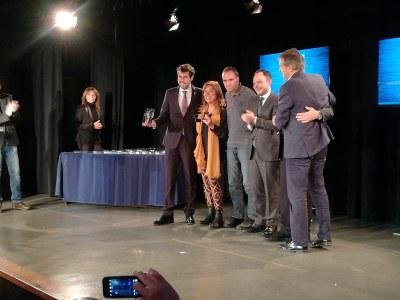 Albert Batalla recull el guardó en reconeixement dels Jocs Specials Olympics la Seu d'Urgell-Andorra la Vella com a millor esdeveniment 2018 a la Nit de l'Esport d'Andorra