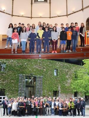 Alumnes i gent gran s'avancen a Sant Jordi amb lectures en viu