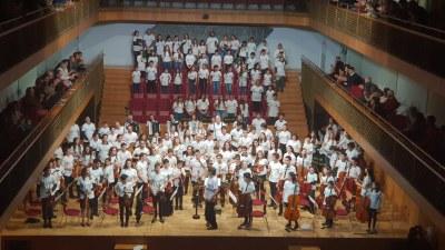 Alumnes i professors de l'Escola Municipal de Música de la Seu d'Urgell participen en l'existós concert de Santa Cecília d'Andorra