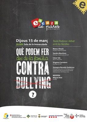 Taula rodona i debat amb les famílies alturgellenques per abordar l'assetjament escolar