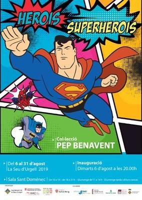 Arriba a la Seu d'Urgell l'exposició 'Herois i Superherois' de l'urgellenc Josep Benavent