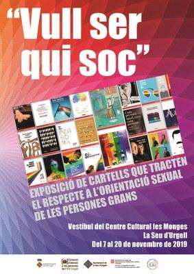 """Arriba a la Seu d'Urgell l'exposició """"Vull ser qui soc"""", que  tracta el respecte a l'orientació sexual de les persones grans"""