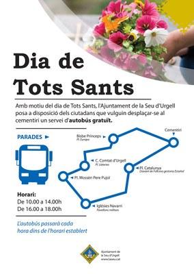 Autobús gratuït a disposició dels ciutadans per anar al cementiri en el dia de Tots Sants