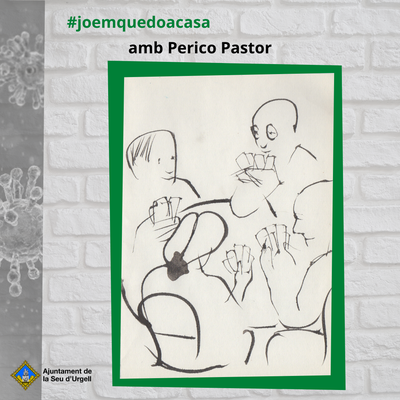 Avui el dibuix del Perico Pastor ens proposa jugar a la botifarra