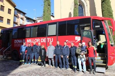 Bona resposta de la Seu d'Urgell en la campanya de donació de sang dels bombers