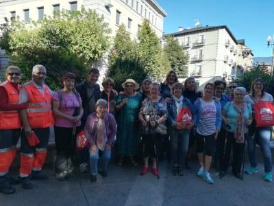 Caminada de la gent gran per conèixer el Castellciutat de 1714