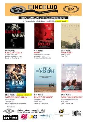 Cineclub la Seu d'Urgell presenta la programació del segon trimestre amb col·laboracions amb altres festivals com el BCN FILM FEST i el DA FILM Festival de Barcelona