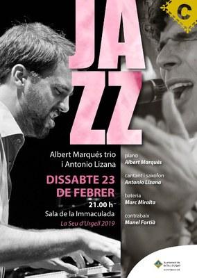 Concert de jazz a la Seu d'Urgell amb Albert Marqués Trio i Antonio Lizana