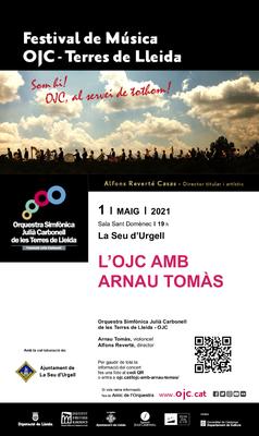 Concert de l'Orquestra Simfònica Julià Carbonell amb el cel·lista Arnau Tomàs