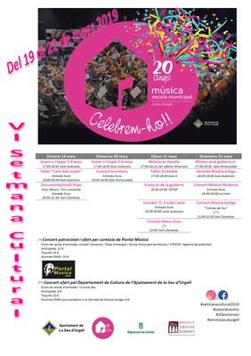 Concerts de Manu Guix, de música moderna i de música antiga, algunes de les propostes de la setmana cultural de l'Escola Municipal de Música de la Seu d'Urgell