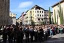 Concentració ciutadana a la Seu d'Urgell de rebuig i denúncia a la violència patida ahir durant la jornada electoral