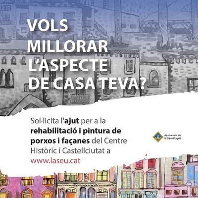 Convocats els ajuts per rehabilitar i repintar porxos i façanes del centre històric de la Seu d'Urgell i Castellciutat
