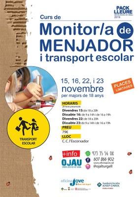 Curs de monitor de menjador i d'acompanyament de transport escolar a l'Alt Urgell