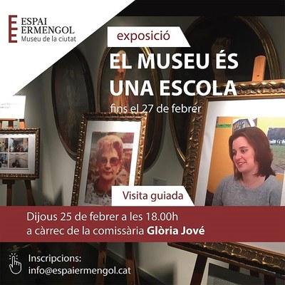 Darrera visita guiada a l'exposició 'El museu és una escola' de l'Espai Ermengol
