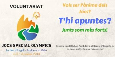 Darrers dies per poder inscriure's com a voluntari als Jocs Special Olympics