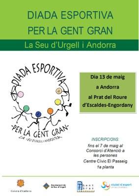 Demà dimarts, darrer dia per inscriure's a la Diada Esportiva de la Gent Gran la Seu d'Urgell i Andorra 2019