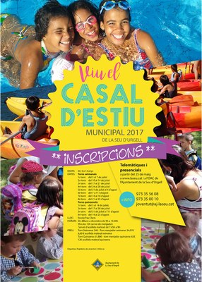 Demà s'obren les inscripcions tant telemàtiques com presencials per al Casal Municipal d'estiu de la Seu d'Urgell