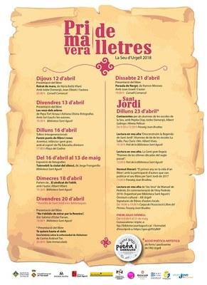 El 'Primavera de Lletres 2018' omple la Seu d'Urgell de presentació de llibres i activitats relacionades amb la lectura