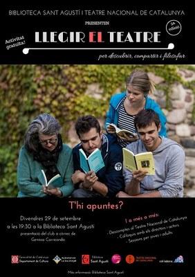 El Club de Lectura de la Biblioteca Sant Agustí presenta una nova edició de 'Llegir el teatre'