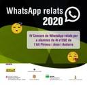 El concurs WhatsApp relats creix