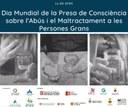 El Consorci d'Atenció a les Persones de l'Alt Urgell s'adhereix a la campanya 'Destapa-ho, tu pots!' per destapar als maltractaments a persones grans