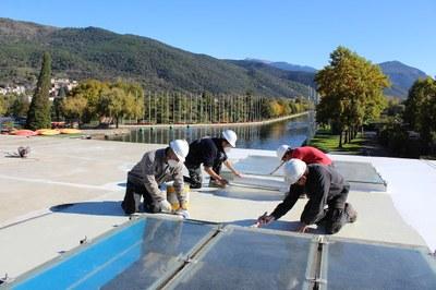 El Parc Olímpic del Segre de la Seu d'Urgell instal·la plaques fotovoltaiques per autoconsum elèctric