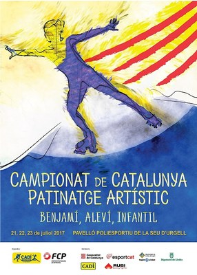 El pavelló poliesportiu de la Seu d'Urgell acull el Campionat de Catalunya de Patinatge Artístic de les categories benjamí, aleví i infantil
