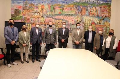 El president de la Diputació de Lleida visita l'Ajuntament de la Seu d'Urgell