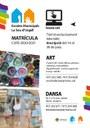 El pròxim dimarts 16 de juny s'obre la matrícula per a les Escoles Municipals d'Art i de Dansa