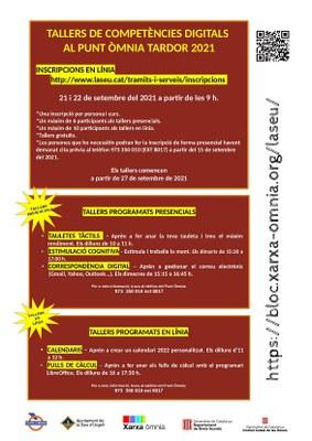 El Punt Òmnia de la Seu d'Urgell ofereix per aquesta tardor 3 tallers presencials i 2 online