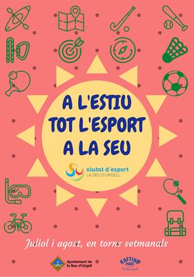 El Servei Municipal d'Esports obrirà el 15 de juny les inscripcions online de les estades esportives d'estiu per a infants i adolescents
