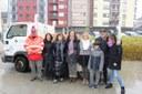El tió solidari de l'escola Albert Vives recull 580 quilos d'aliments