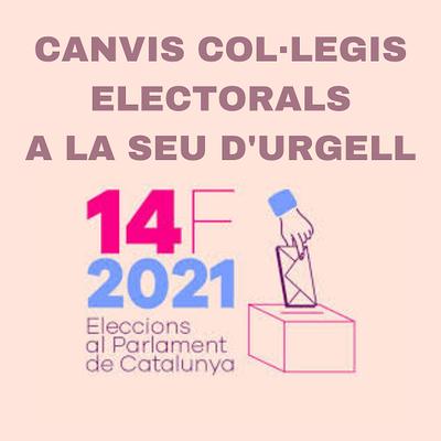Eleccions al Parlament de Catalunya del 14-F: canvis en alguns col·legis electorals de la Seu d'Urgell