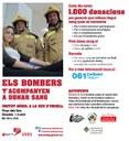 Els Bombers de la Seu se sumen de nou a la campanya solidària 'Els bombers t'acompanyen a donar sang'
