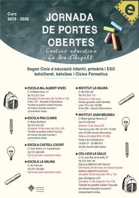 Els centres educatius de la Seu d'Urgell ja tenen programades les seves jornades de portes obertes