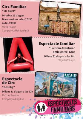 Els Espectacles Familiars de la Festa Major de la Seu d'Urgell estaran carregats d'humor