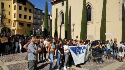 Els i les estudiants de la Seu d'Urgell se sumen a la Vaga Mundial pel Clima