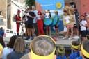 Els nens i nenes dels casals d'Estiu de la Seu i comarca llegeixen el pregó infantil, acte que obre la Festa Major urgellenca