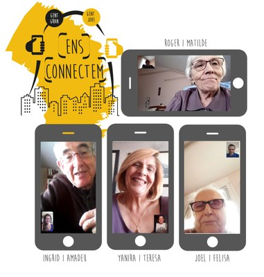 Es coneixen telemàticament els i les participants del projecte intergeneracional 'Ens connectem'