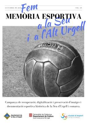 Es reactiva la campanya 'Fem memòria esportiva a la Seu i a l'Alt Urgell'