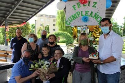 Felicitació de la Corporació Municipal a Antonio Martínez López pels seus 102 anys