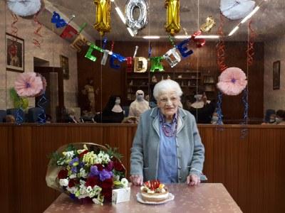 Felicitació institucional a la padrina urgellenca Irene Capdevila pels seus 101 anys