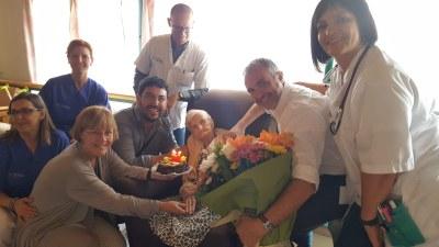 Felicitació institucional a la padrina urgellenca que ha fet 108 anys